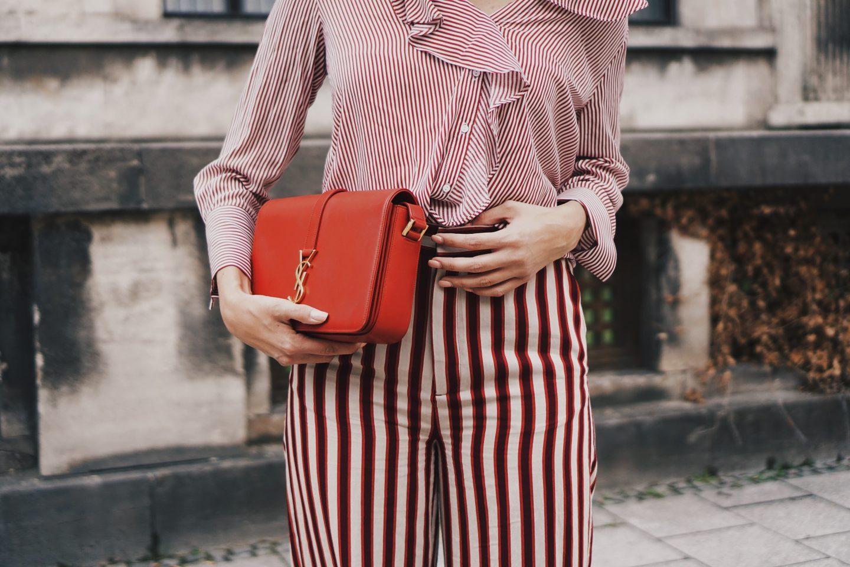 stripes on stripes – Palazzo Hose und Rüschenbluse